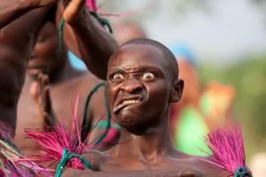 Bukonzo Dancer performing for PODA Volunteers