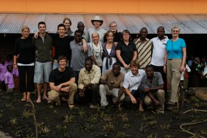 Part of the PODA volunteer crew with the Kampala construction group