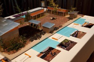 A model of the future plans for the school.